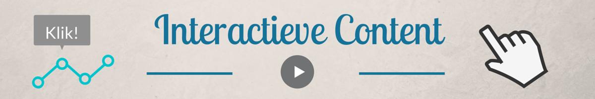 Interactieve Content Header