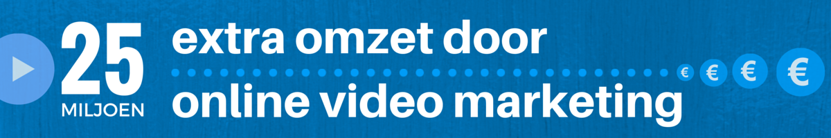 25 miljoen extra omzet door online video marketing Header